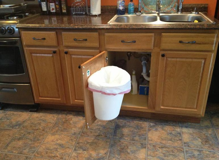 Cabinet Mount Trash Can | Trash Can holder| 618-410-4649